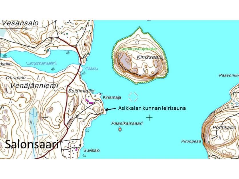 Leirisaunan kartta 2